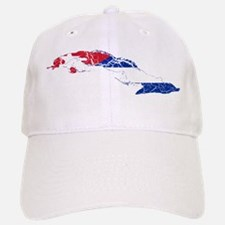 Cuba Flag And Map Baseball Baseball Cap
