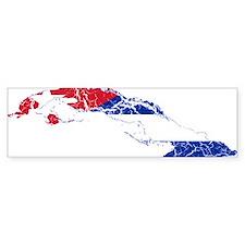 Cuba Flag And Map Bumper Sticker