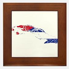 Cuba Flag And Map Framed Tile