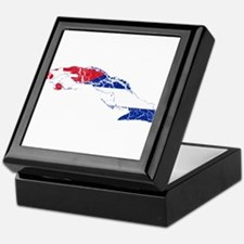 Cuba Flag And Map Keepsake Box