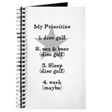 Disc golf t shirt Journal