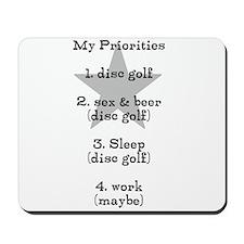Disc golf t shirt Mousepad