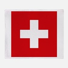 Switzerland Flag Throw Blanket