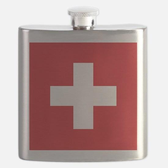 Switzerland Flag Flask