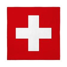 Switzerland Flag Queen Duvet