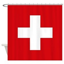 Switzerland Flag Shower Curtain