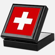Switzerland Flag Keepsake Box