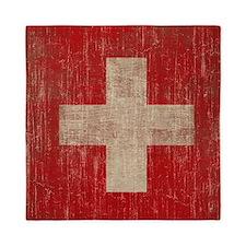 Vintage Switzerland Flag Queen Duvet