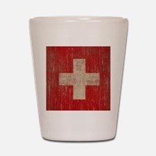 Vintage Switzerland Flag Shot Glass