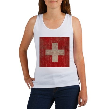 Vintage Switzerland Flag Women's Tank Top