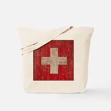 Vintage Switzerland Flag Tote Bag