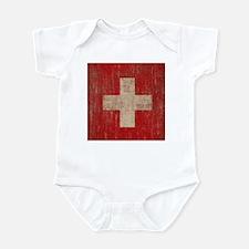 Vintage Switzerland Flag Infant Bodysuit