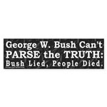 George W. Bush Parse Bumper Sticker