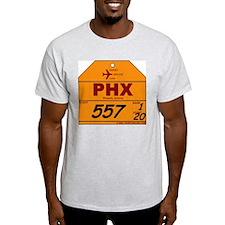 PHX - Phoenix, Arizona Airpor Ash Grey T-Shirt