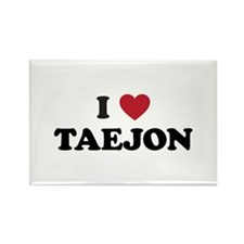 I Love Taejon Rectangle Magnet
