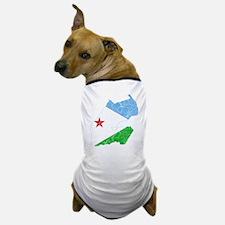 Djibouti Flag And Map Dog T-Shirt