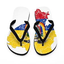 Ecuador Flag And Map Flip Flops