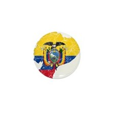 Ecuador Flag And Map Mini Button