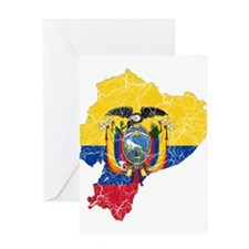 Ecuador Flag And Map Greeting Card