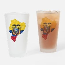 Ecuador Flag And Map Drinking Glass