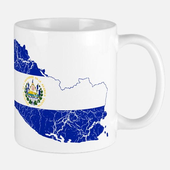 El Salvador Flag And Map Mug