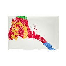 Eretria Flag And Map Rectangle Magnet