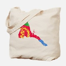 Eretria Flag And Map Tote Bag