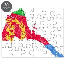 Eretria Flag And Map Puzzle