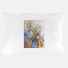 Giraffes! wildlife art Pillow Case
