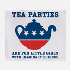 Tea Parties Throw Blanket