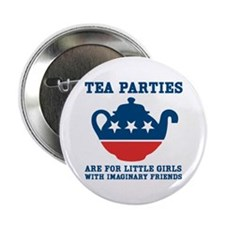 "Tea Parties 2.25"" Button"