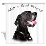 Man's Best Friend Shower Curtain