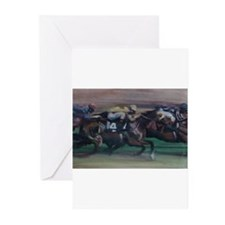 The Horse Race Greeting Cards (Pk of 20)