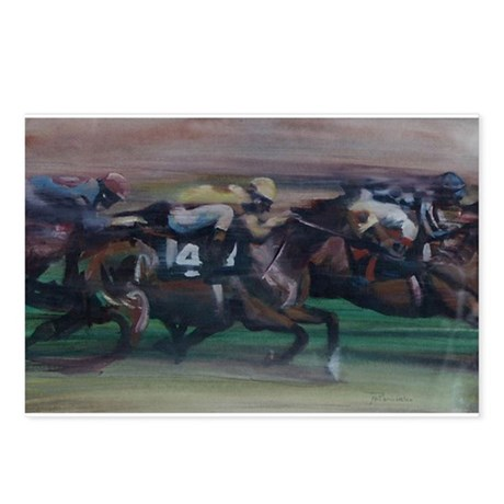 The Horse Race Postcards (Package of 8)
