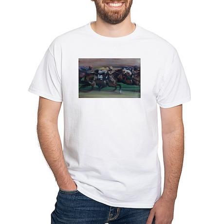 The Horse Race White T-Shirt