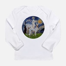 Starry Night with two Baby Llamas Long Sleeve Infa
