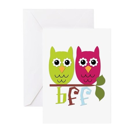 BFF Best Friends Forever Owls Greeting Cards (Pk o