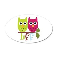 BFF Best Friends Forever Owls Wall Decal