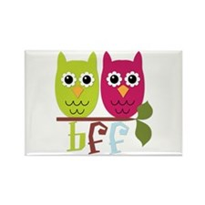 BFF Best Friends Forever Owls Rectangle Magnet