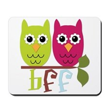 BFF Best Friends Forever Owls Mousepad
