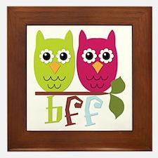 BFF Best Friends Forever Owls Framed Tile