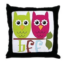 BFF Best Friends Forever Owls Throw Pillow