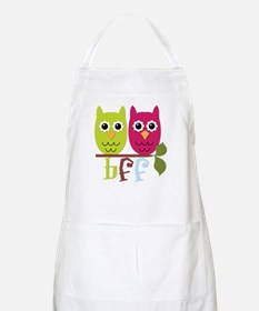 BFF Best Friends Forever Owls Apron
