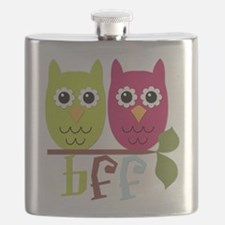 BFF Best Friends Forever Owls Flask