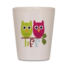 BFF Best Friends Forever Owls Shot Glass