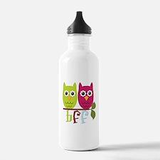 BFF Best Friends Forever Owls Water Bottle