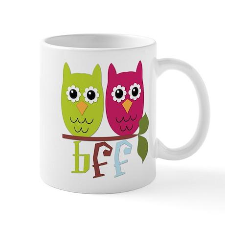 BFF Best Friends Forever Owls Mug