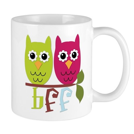 BFF Best Friends Forever Owls Mug