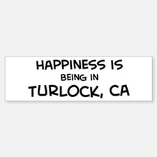 Turlock - Happiness Bumper Bumper Bumper Sticker
