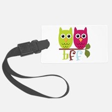BFF Best Friends Forever Owls Luggage Tag
